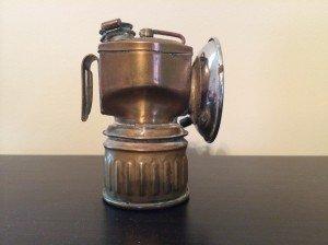 Carbide Light, Harlan County, carbide light used in the Kenvir Kentucky coal mine