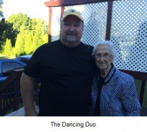 Della and her son on her dancing day. I hope you dance!
